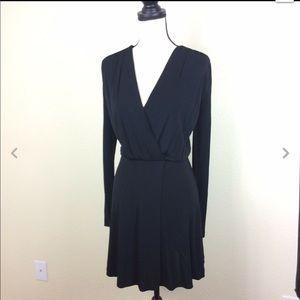 & Other Stories Black Faux Wrap Dress